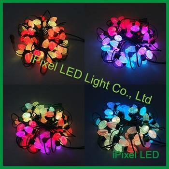 D24 Strawberry shape dream color addressable led pixel string light smd 5050 3leds/pcs
