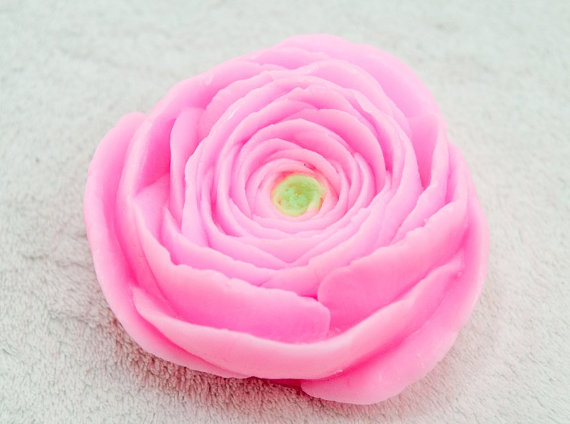 2D flowers molds Soap mold ranunculus silicone moulds silicone mould for soap making aroma stone molds handmade candle moulds