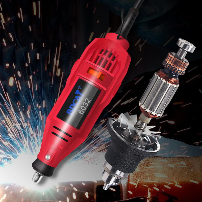 Image 4 - BDCAT 180w Engraving Electric Dremel Rotary Tool Variable Speed Mini Drill Grinding Machine with 180pcs Power Tools accessories-in Electric Drills from Tools on
