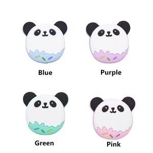 Image 4 - Chengkai 50 PCS Silicone Panda Kralen DIY Baby Schattige Dieren Tandjes Oral Care Hanger Douche Bijtring Zintuiglijke Sieraden Speelgoed Gift