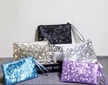 Fashion Ladies Women Sparkling Clutch Dazzling Sequins Glitter Handbag Blingbling Evening Purse Bag