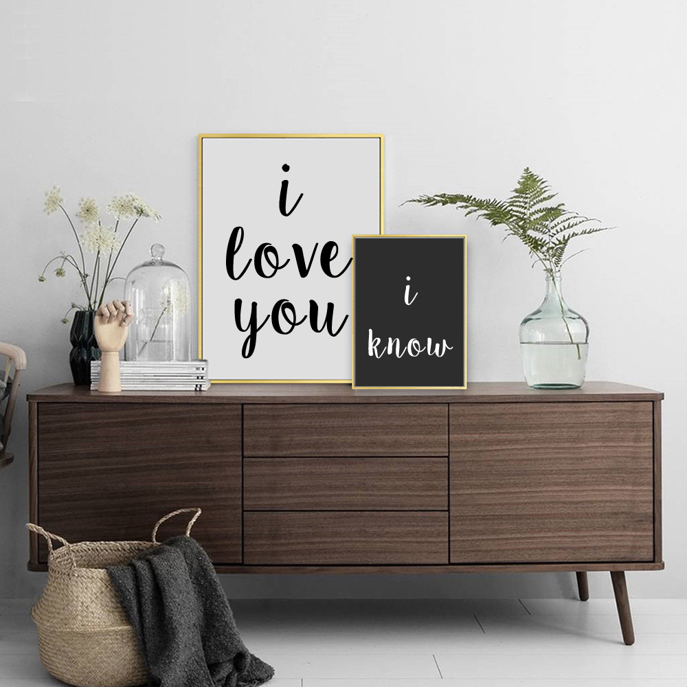 Love Quote Signs Awesome I Love You I Know Canvas Print Love Quote Signs Painting Multi