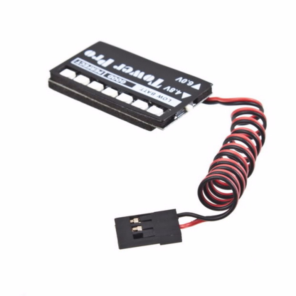 YKS RC Model 7 LED Receiver Battery Voltage Indicator Monitor Car auto 7led 4.8v 6v Low voltage Monitor Indicator 6v 1600mah vb power receiver battery for rc car model plane wholesale price dropship freeshipping