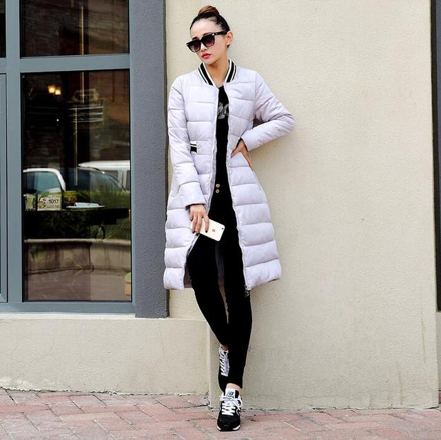 2017 winter wadded jacket female medium-long slim down cotton-padded jacket outerwear