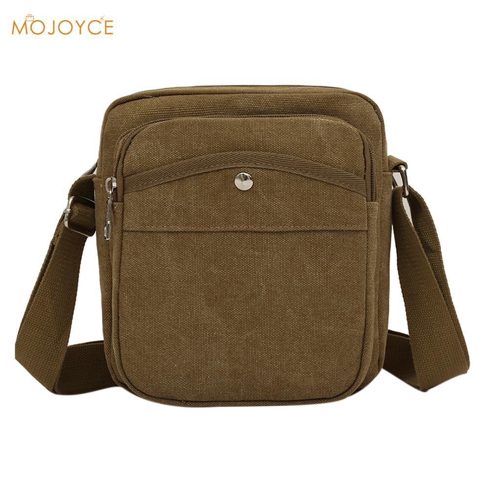 2018 Arrival Canvas Specials Small Messenger Bag Leisure Satchel Mens Cheap Multifunctional Mini Mobile Phone Shoulder Bag
