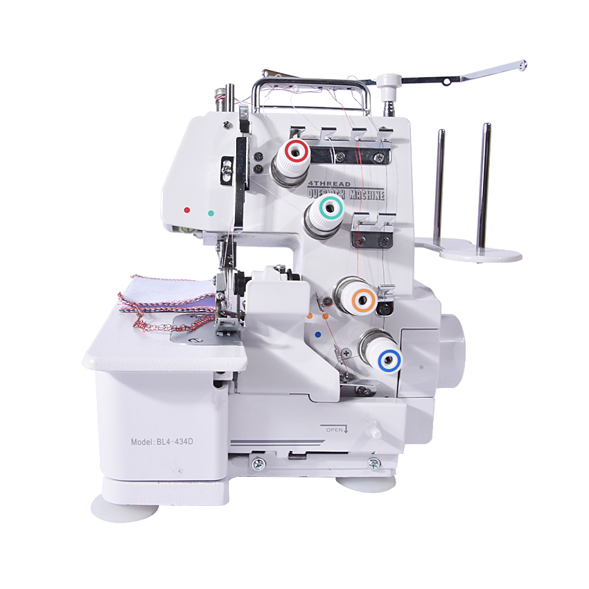 Professcial Four Thread Overlock Sewing Machine, All Cloth Fabric Sewing Machine With Pedal and Lamp 220V 1200S.P.M