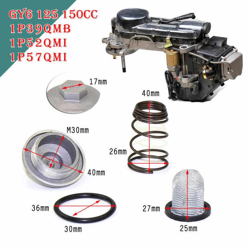 Kualitas Tinggi GY6 50cc Sampai 150cc 125/150 Mesin Bagian Steker Moped Penyaring Minyak Menguras Sekrup Skuter untuk Baotian Benzhou Znen taotao