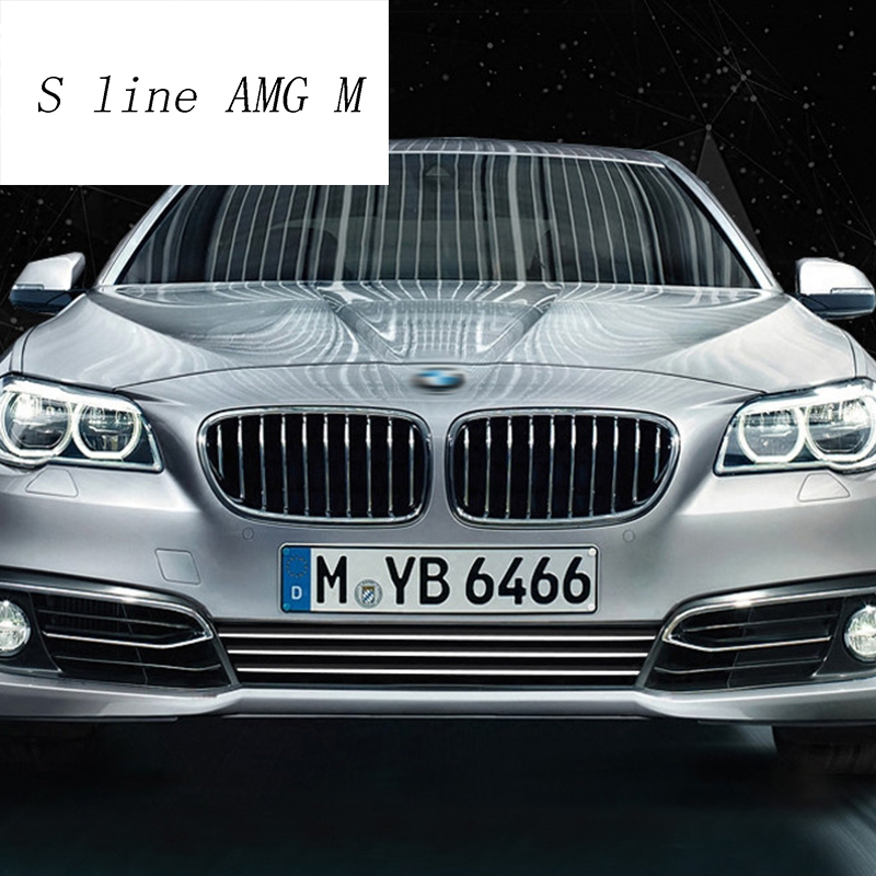 Car Styling Front Head Bumper Lip Lower Bumper Stainless Steel Frames Covers Stickers Trim For BMW 5 Series F10 auto Accessories|Car Stickers| |  - title=