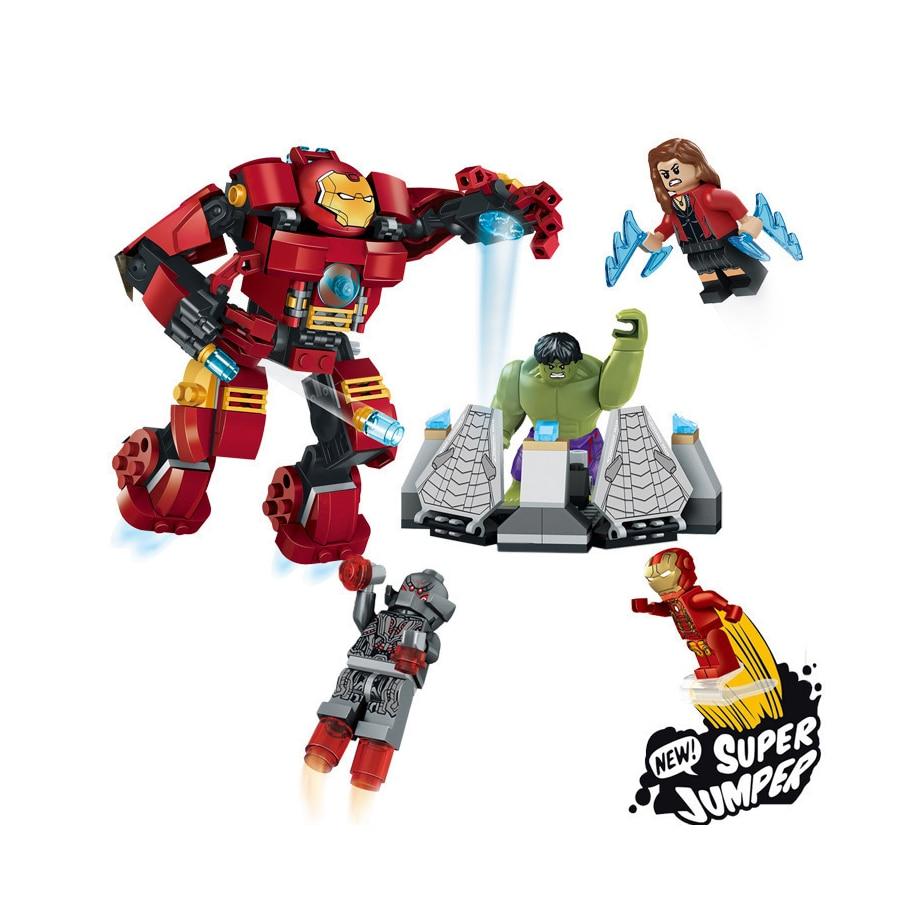 Oleku Building Blocks legoing Marvel Avengers 248PCS Ultron Figures Hulk Buster Bricks font b Toys b