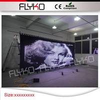 Free shipping P50MM 2*5M led video curtain with factory price