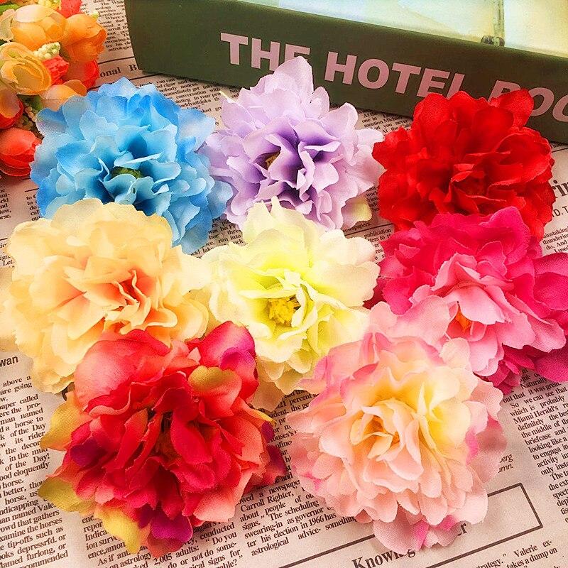 10 PCS (10 cm/flower) simulation of artificial silk peony flowers, flower heads/wedding...