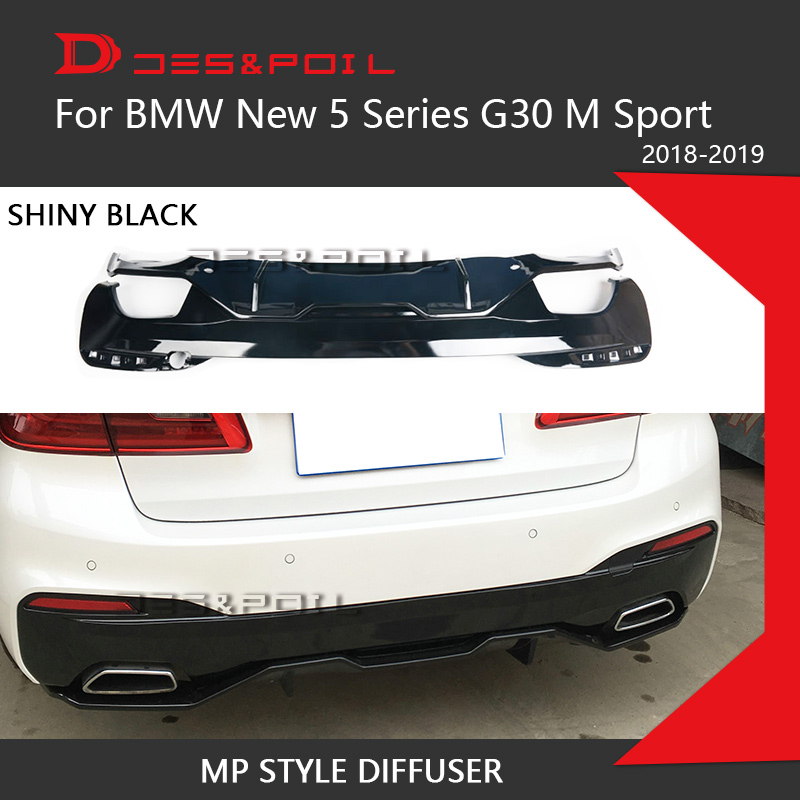 M Performance Rear Diffuser Lip For BMW New 5 Series G30 Rear Bumper Guard Sporty M Sport Only 2018 2019 525 530 540 Car Styling Body Kits     - title=