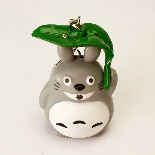 Totoro Umbrella Key Chain sound LED Flashlight
