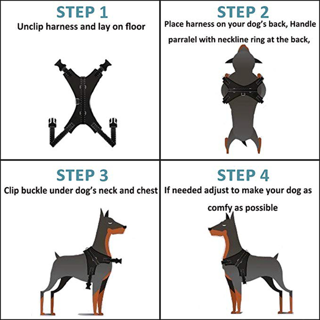 Collars, Harnesses & Leashes Dogs Adjustable Dog's Harness  My Pet World Store