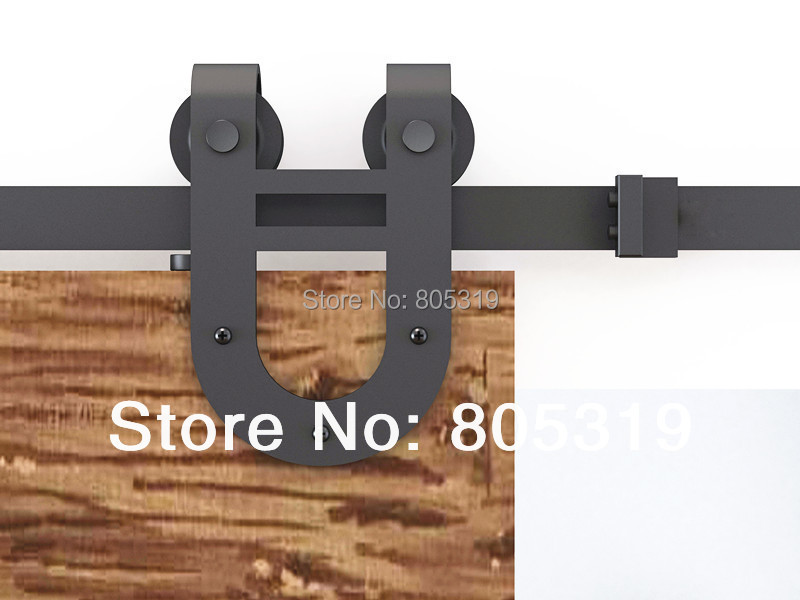 Modern European Style Steel Wood Sliding Barn Door Hardware Set