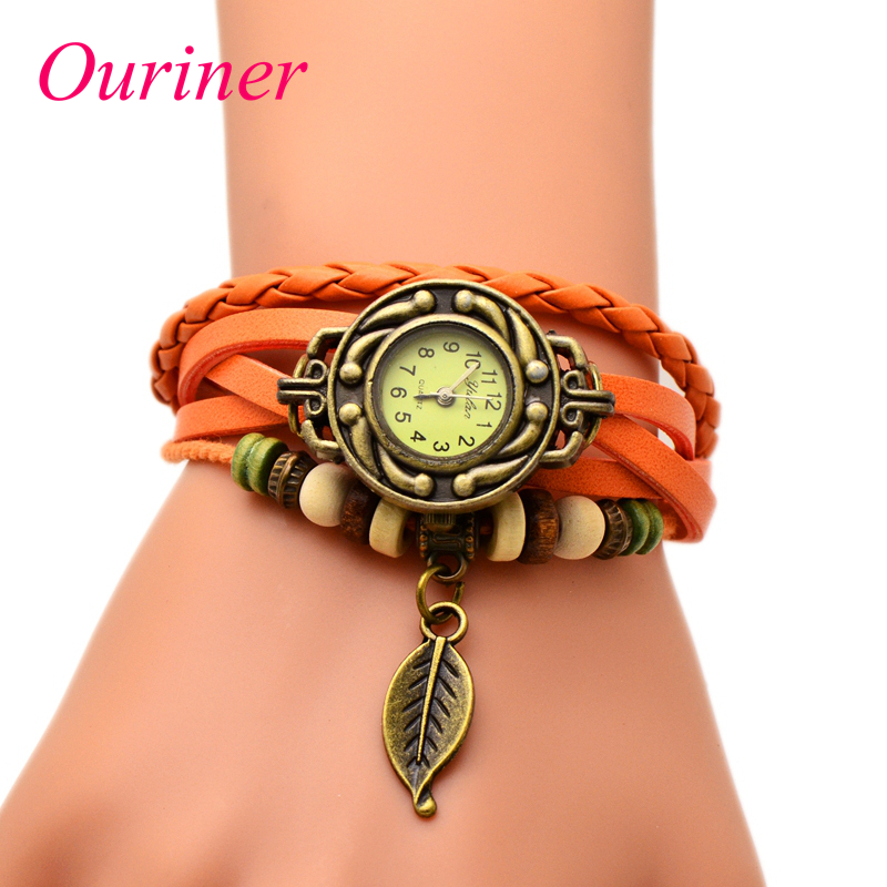 Buy ouriner fashion women leather bracelet watch dress for Buying jewelry on aliexpress