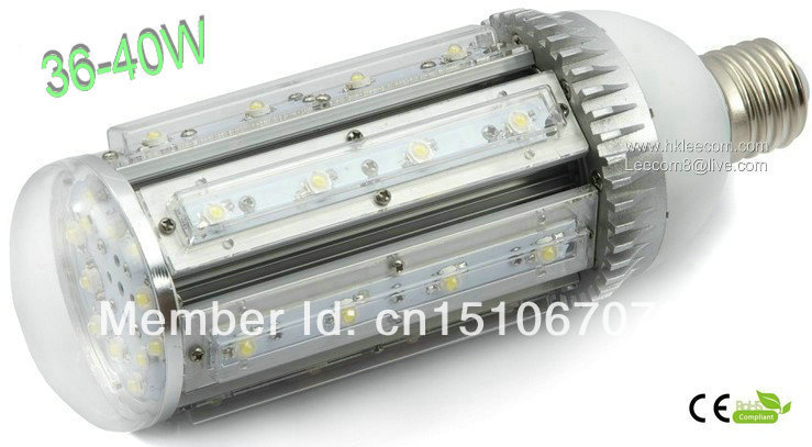 ФОТО 2015 New Led Alumbrado Publico 8pcs Lot E40 Corn Street Light with 40w Power 85 To 265v Ac Voltage Ce And Rohs Certified