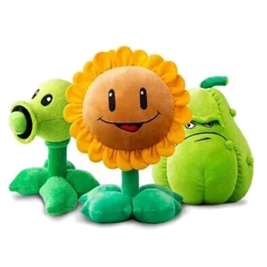 30cm Plants vs Zombies plush decorations toy chomper 2016 New Plants vs.Zombies 2 figurine pea sunflower Melon stuffed plush toy
