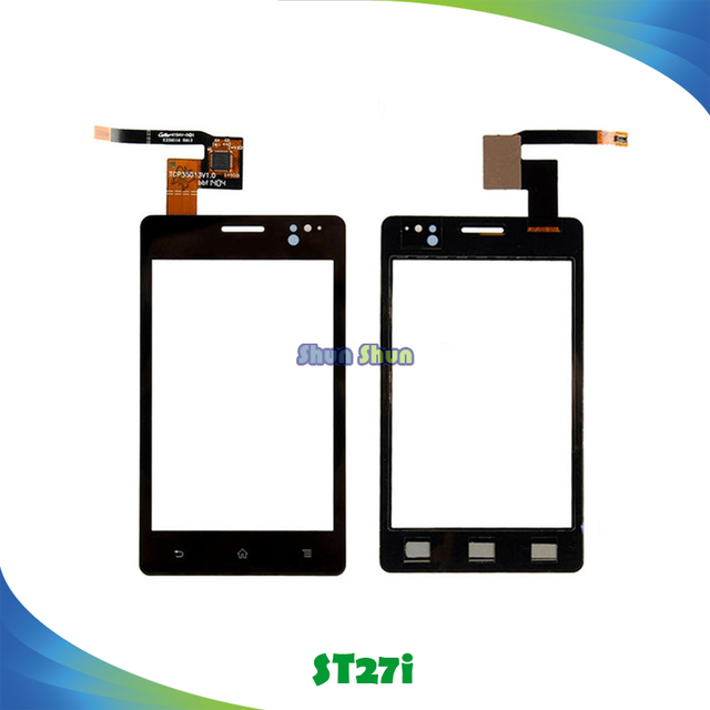 """3.5"""" ST27i Touch Panel for Sony Xperia Go ST27i ST27 ST27a Touch Screen Digitizer Sensor Front Glass Lens Black Phone Parts"""