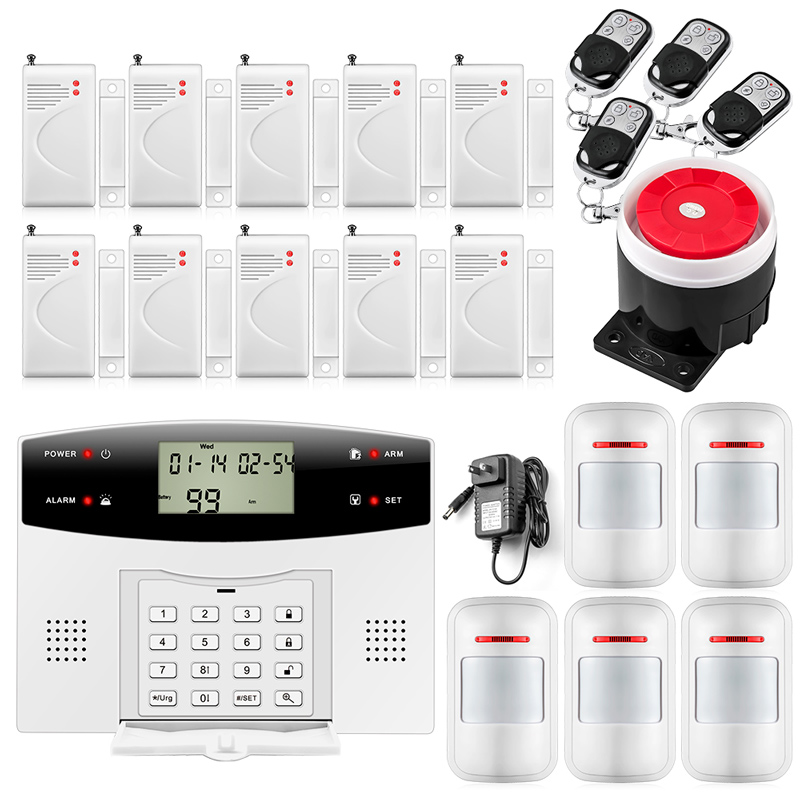 Fuers GSM PSTN Home security Alarm systems with LCD Keyboard  Wireless GSM Alarm System Remote Control Alarm Security System dual network russian spanish french wireless gsm pstn alarm system home security alarm systems with lcd keyboard without battery