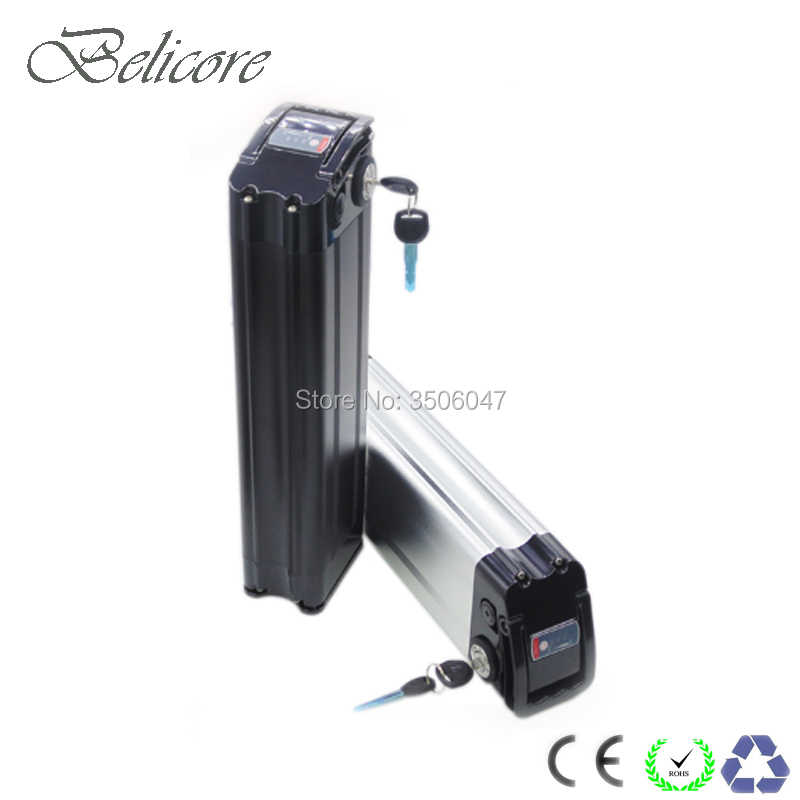 48v 750w 1000w silver fish electric bike battery 48v 15ah 15.6ah 17.4ah 20ah 21ah fat tire electric bicycle battery