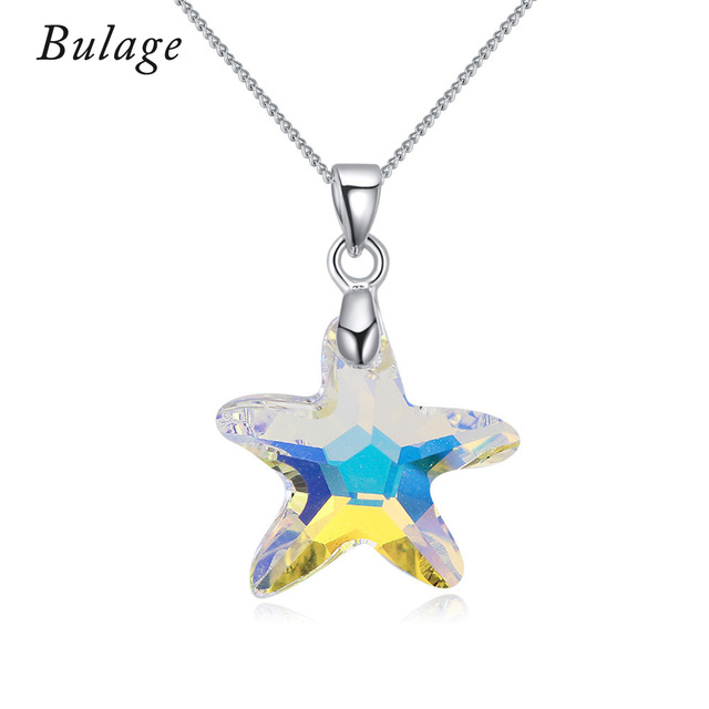 100 genuine crystals from swarovski starfish pendant necklaces 100 genuine crystals from swarovski starfish pendant necklaces rhodium plated chain collares for women jewelry aloadofball Image collections