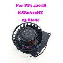 עבור סוני פלייסטיישן 3 PS3 סופר Slim CECH 4201B קירור מאוורר Brushless KSB0812HE