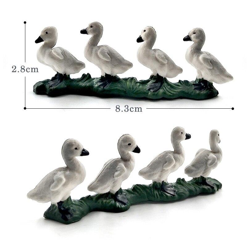 Farm Simulation Chicken Duck Goose animal model Bonsai figurine home decor miniature fairy garden decoration accessories modern in Figurines Miniatures from Home Garden