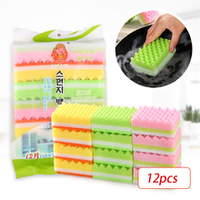 TCHY 12pcs Melamine Sponge Magic Cleaning Dish Sponge Eraser for Washing Dishes Utensils Tableware Home and Kitchen Accessories