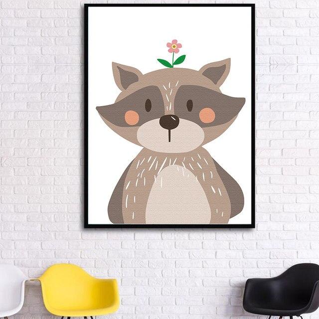 Tienda Online Dibujos Animados lindo jirafa conejo oso Fox animales ...