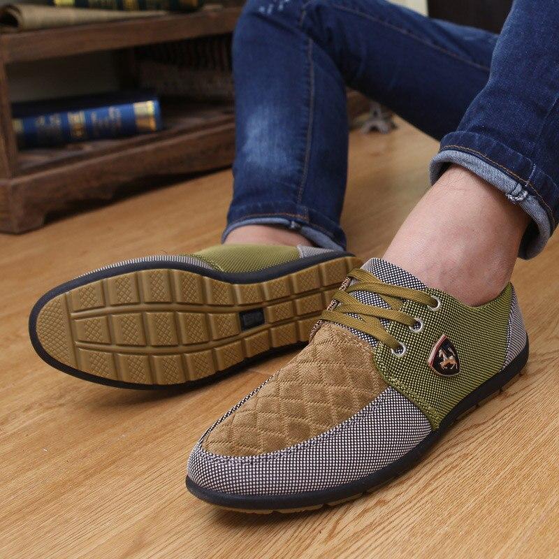 2019 Shoes Men Flats Canvas Lacing Shoes Breathable Men Casual Shoes Fashion Sneakers Men Loafers Wholesale Men 39 S Shoes 2