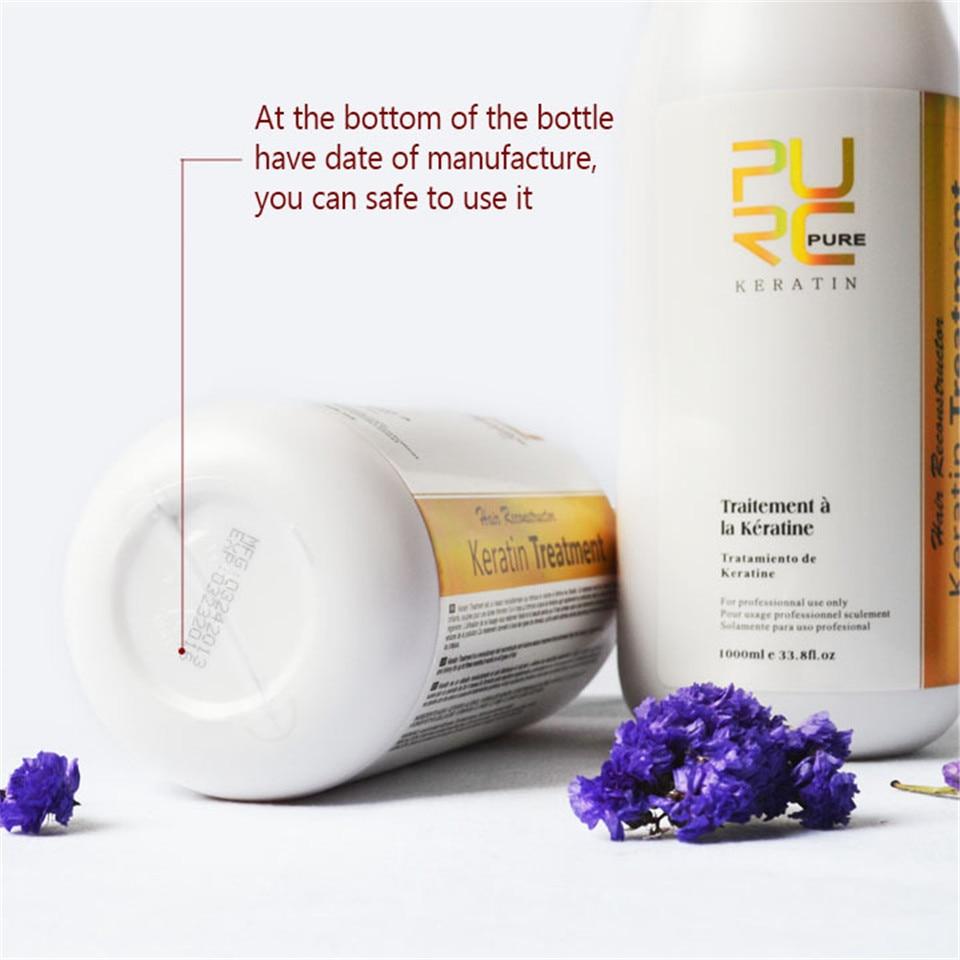 Image 3 - 1x PURC Keratin For Hair 1000ml Brazilian Keratin Hair Treatment Formalin 5% Straightener For Repair Damaged Hair P40-in Hair & Scalp Treatments from Beauty & Health