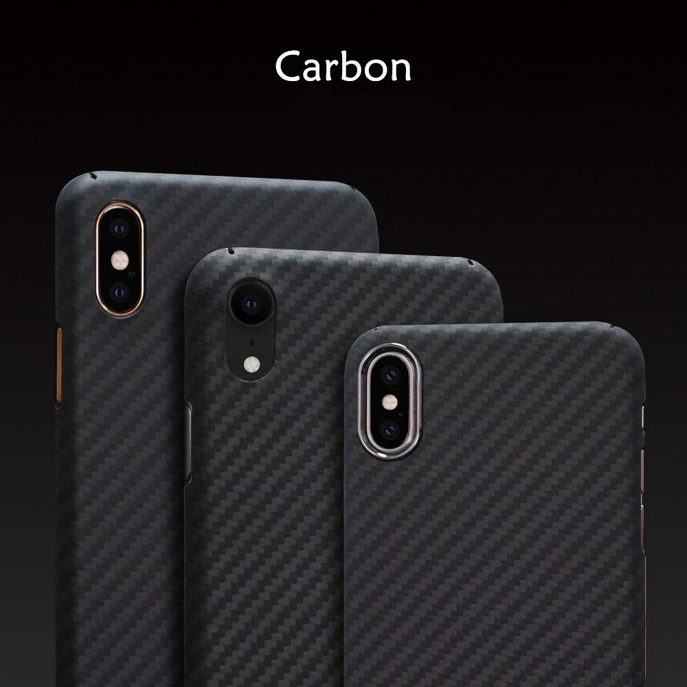 Étui en fibre de carbone pour Iphone XS MAX XS X XR Ultra-mince fait à la main