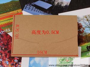 Image 5 - 50pcs/lot 3 Colors Vintage Blank Kraft Paper DIY Multifunction Envelope postcard box Package paper wholesale