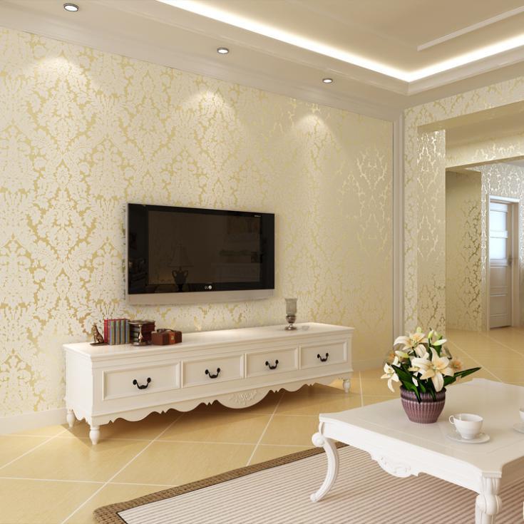 Modern Papel De Parede Europe Type Damask 3d nonwoven Wallpaper for bedroom tv background wallpaper papel de parede tapete обои papel de parede 3d tapete