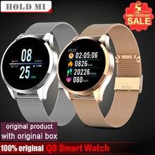 Q8 Q9 inteligentny zegarek Bluetooth wodoodporna wiadomość przypomnienie połączeń Smartwatch mężczyźni tętno Tracker do monitorowania aktywności fizycznej Android IOS telefon