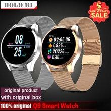 Reloj inteligente Q8 Q9 para Android e IOS, reloj inteligente resistente al agua con Bluetooth, mensajes, llamadas, recordatorios, control del ritmo cardíaco y monitor, seguidor Fitness