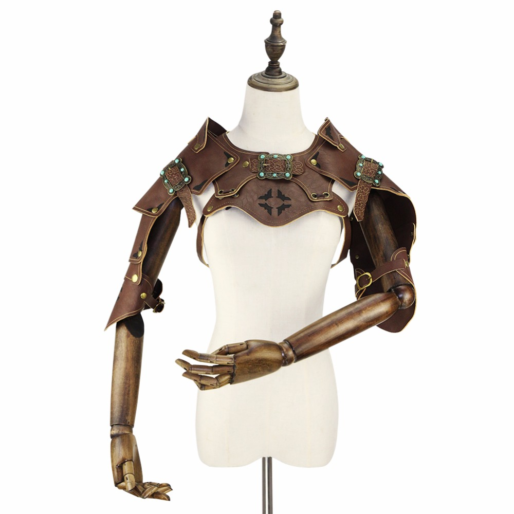 Gear Duke Punk Cosplay Steampunk PU Leather Gothic Armor Vintage COS Party Performance Props For Men And Women  Halloween