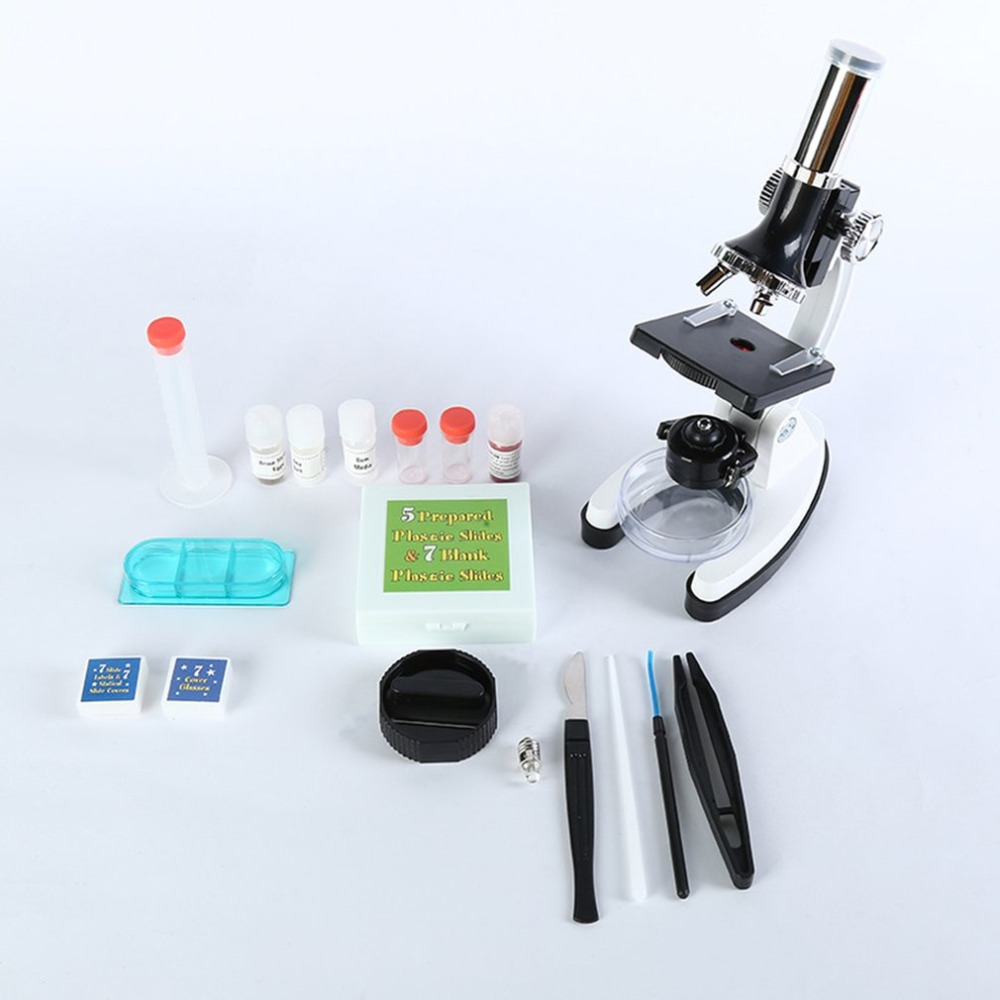 Student Childrens Microscope 1200x Laboratory Equipment Toolbox Set Metal Microscope Kit Accessory Set                         Student Childrens Microscope 1200x Laboratory Equipment Toolbox Set Metal Microscope Kit Accessory Set