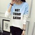 Hoje não Satanás RuPaul Engraçado Mulher Carta Ocasional da Camisola Impressão Camisola de Algodão Mulheres Hoodies do Pulôver Mulheres TOPS JBW-21594