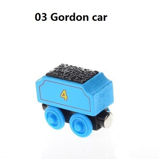 Деревянные магнитные паровозики, игрушки для железной дороги, деревянные паровозики для детей, подарок для детей, модель поезда - Цвет: Серебристый