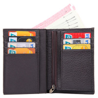 J.M.D Imported Cow Leather Men's Wallet Casual And Fashion Multi Cards Holder Classic Vintage Vertical Wallet Case Brown 8153C