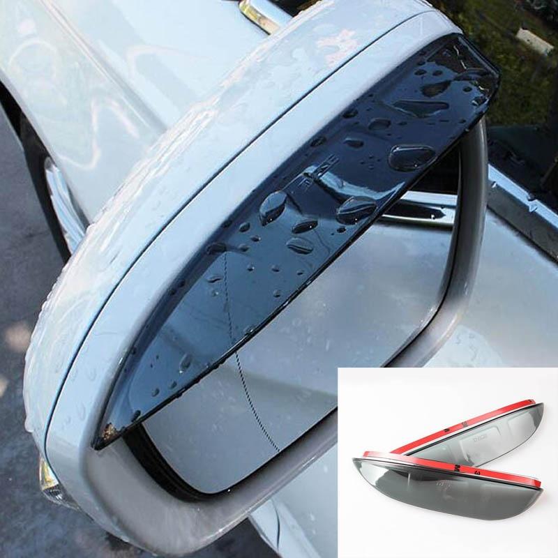 Side Wing Door Mirror Rain Guard Visor Shade Shield Rear