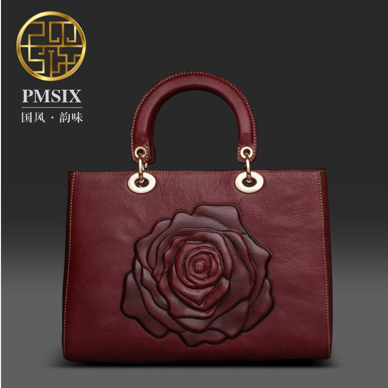 Famous brand top quality Cow Leather women bag   Originality embossing shoulder bag Retro doctor bag Shoulder Messenger Bag и в головлева учимся читать быстро