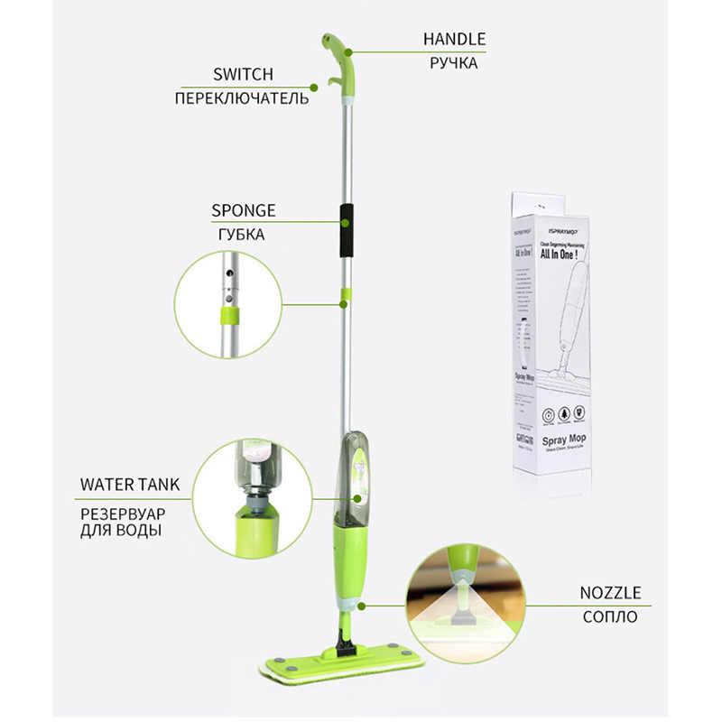 MAGIA DA UNIÃO 3 peças de pano & Spray Mop Pano De Microfibra Tecido Janela Ferramentas de Limpeza Mop Casa Cozinha Casa de Banho Limpa Chão mop