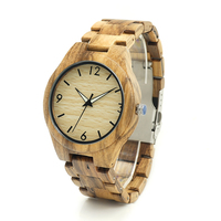 BOBO BIRD Brand Wooden Watches Men Luxury Wooden Strap Wristwatche Reloj Masculino Wood Wrist Watch For
