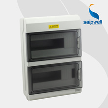Saipwell 2014 Hot! IP66 Circuit Breaker Box 24 Ways Waterproof PC Outdoor Distribution Box  380*273*110mm