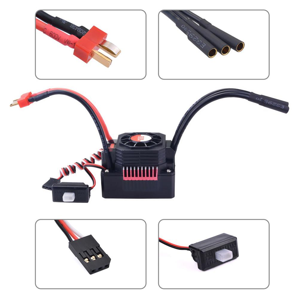 Image 4 - SURPASS HOBBY Waterproof Sensorless Brushless ESC 60A Speed Controller for 1/10 RC Car Truck Control Car Toys for Children-in Parts & Accessories from Toys & Hobbies