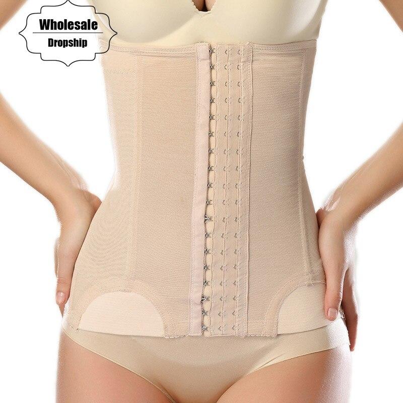 NINGMI Postpartum Waist Belly Trainer Belt Women Body Hot Shaper Slimming Fat Burner Strap Band Cincher Corset Bustier Shapewear