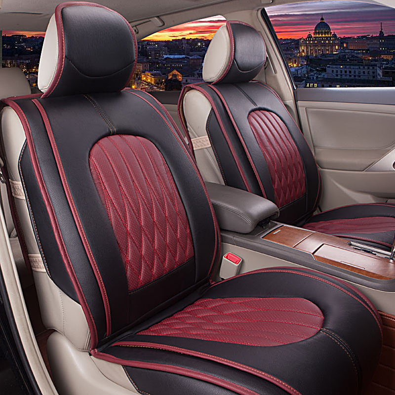 2015 New Design Car Seat Covers High Quality Leather Car Covers 4
